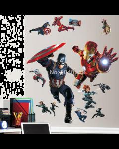 3D Captain America en Iron Man