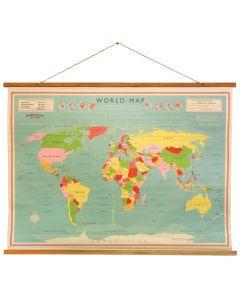 Klassieke wereldkaart - 100x73cm