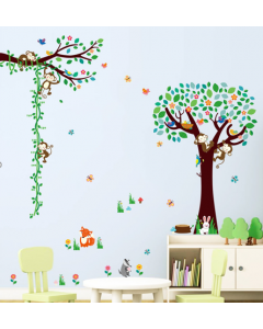 Meetlat aapjes in een boom (3-delig)