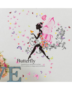 Bloemenmeisje als vlinder