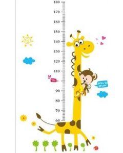 Meetlat Giraffe en aapje