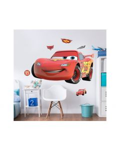 XL MUURSTICKER CARS - LIGHTNING McQUEEN